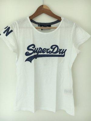 Weißes Super Dry Tshirt Vintage