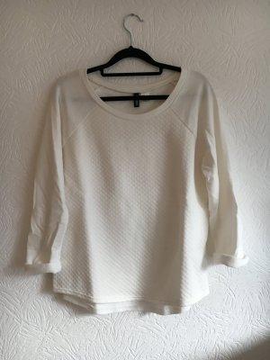 Weißes Sweatshirt