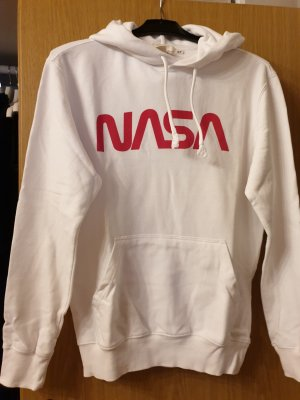 H&M Hooded Sweatshirt white-red