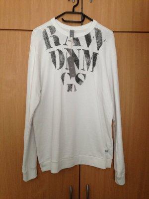 G-Star Sweatshirt wit-zwart