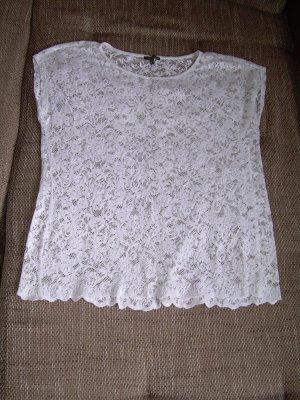 weißes T-Shirt aus Spitze von Street One Gr. 42