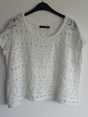 Weißes T-Shirt aus Strick