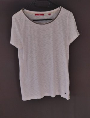 s.Oliver Camiseta blanco-color plata