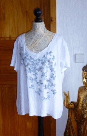 Camiseta estampada blanco-color plata Algodón