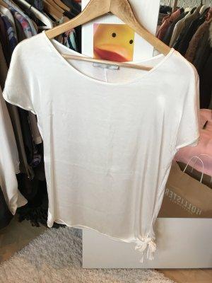 Weißes T-Shirt Hallhuber