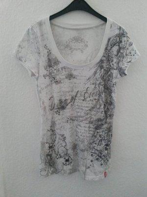 Weißes T-Shirt mit Applikationen
