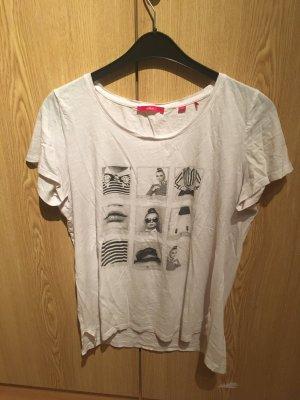Weißes T-Shirt mit Aufdruck