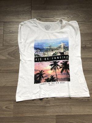 Weißes T-Shirt mit Aufdruck von Atmosphere - Primark, Gr. 44