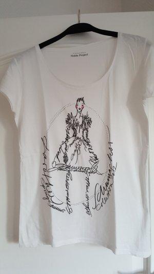 weißes T-Shirt mit Aufdruck von Schumacher