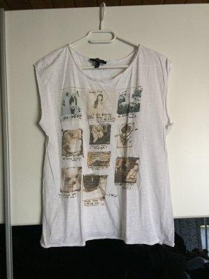 Weißes T-Shirt mit Bilder