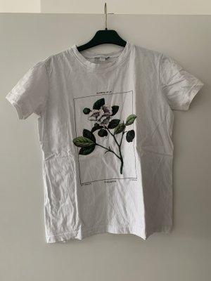 Topshop T-shirt bianco-verde scuro