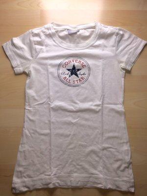 Weißes T-Shirt mit Converse - Logo