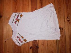 weißes T-Shirt mit Details