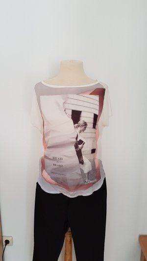 Weißes T-Shirt mit Druck