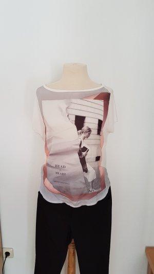 Zara T-shirt imprimé multicolore polyester