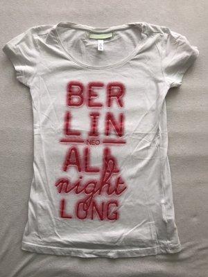 Adidas NEO T-shirt imprimé blanc coton