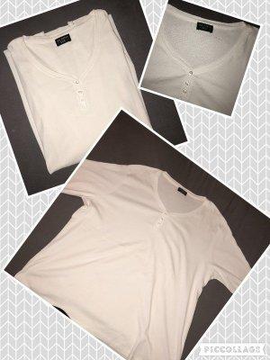 Weißes T-Shirt mit knöpfen