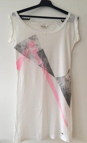 Weißes T-Shirt mit Print von Diesel