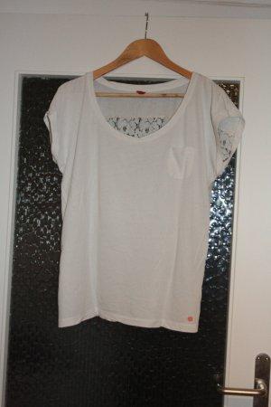 Weißes T-Shirt mit Spitze von QS by s.Oliver