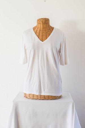 René Lezard V-hals shirt wit