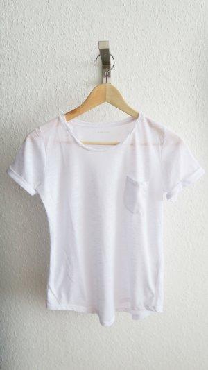 weißes T-shirt Montego leicht oversized tragbar S/M/L