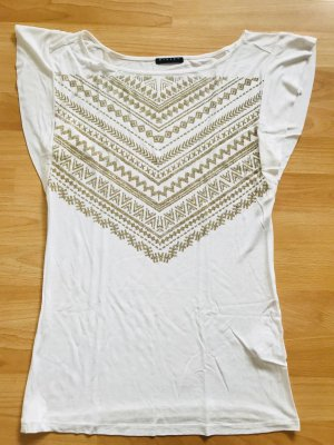 Weißes T-Shirt Sisley