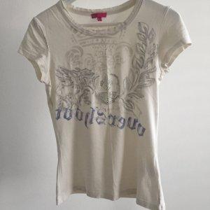 Weißes T Shirt von Mexx mit Strass und Schriftzug