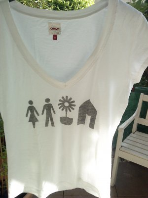 weißes T-Shirt von Only in M