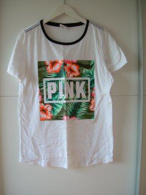 weißes T-Shirt von Pink Victoria's Secret Gr. L
