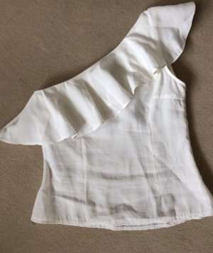 Pieces One Shoulder Top white