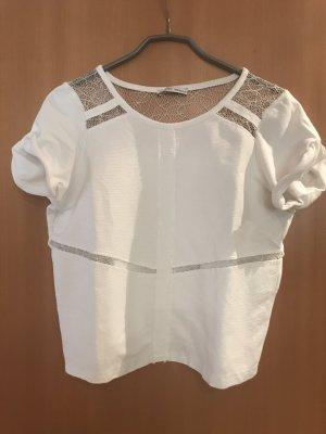 Zara Maglia a rete bianco