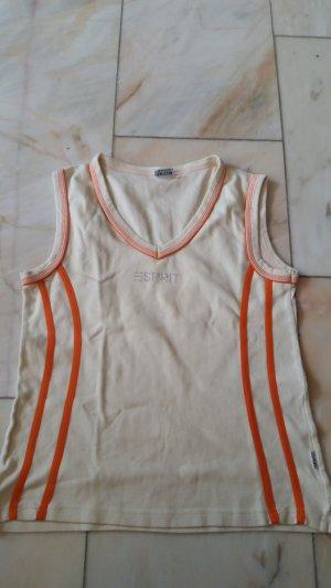 Esprit Tank Top white-orange