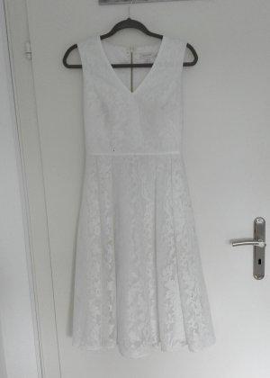 weißes Ted Baker 2 Skaterkleid Midi Spitze Standesamt Hochzeit Brautkleid 38