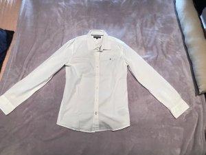 Weißes Tommy Hilfiger Hemd für Jungs 164 - M