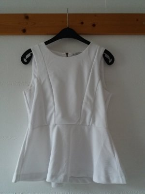 H&M Top bianco Poliestere