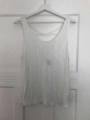 H&M Divided Cut Out Top white