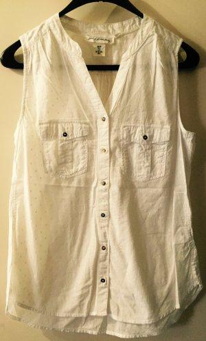 Weißes Top aus Baumwolle