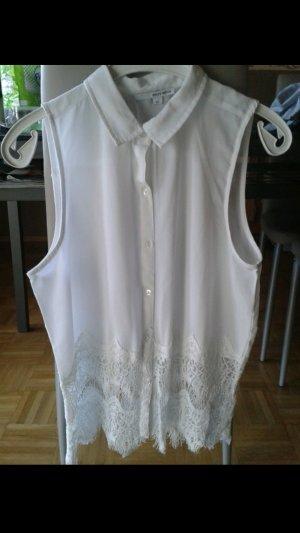 weißes Top/Hemd mit Spitze