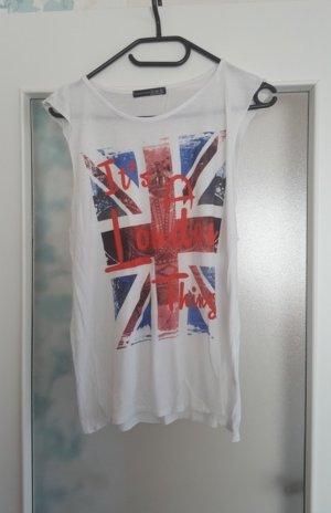 Weißes Top mit London-Motiv