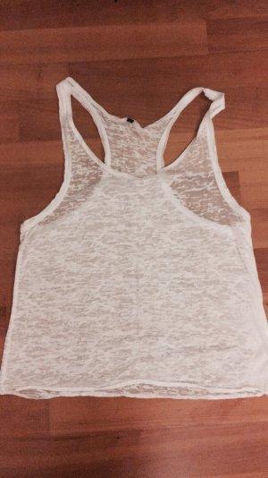 Weißes Top mit Muster