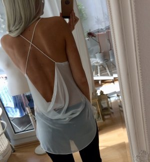 Zara Rugloze top wit