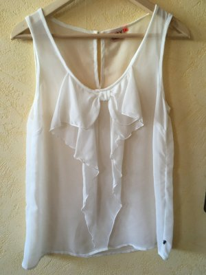 Only Blouse transparente blanc
