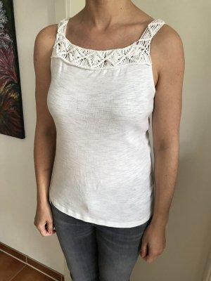 Lauren by Ralph Lauren Crochet Top white