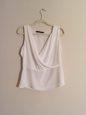 Weißes Top von Zara in Größe S