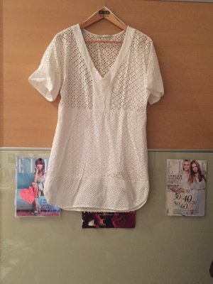 Weisses Transparentes Klassisches Kleid