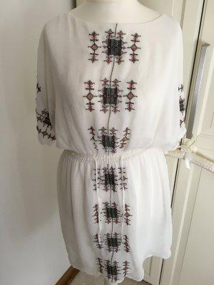 Weißes Transparentes Sommerkleid