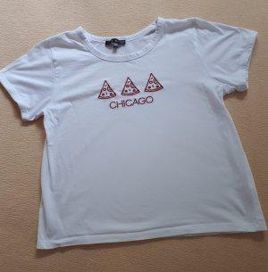 Weisses Tshirt in 38 mit Aufdruck