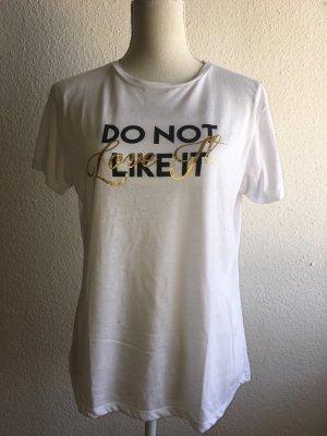 Weißes Tshirt mit Aufschrift