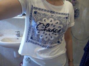 weißes Tshirt mit Print