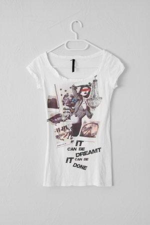 weißes Tshirt mit Print aus Spanien